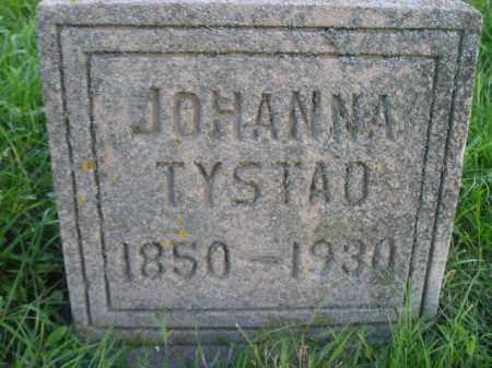 TYSTAD, JOHANNA - Miner County, South Dakota | JOHANNA TYSTAD - South Dakota Gravestone Photos