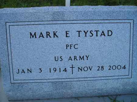 TYSTAD, MARK E. - Miner County, South Dakota | MARK E. TYSTAD - South Dakota Gravestone Photos