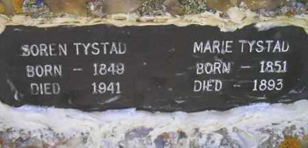 TYSTAD, MARIE - Miner County, South Dakota | MARIE TYSTAD - South Dakota Gravestone Photos