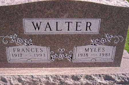 WALTER, MYLES - Miner County, South Dakota   MYLES WALTER - South Dakota Gravestone Photos