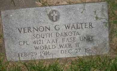 WALTER, VERNON G. - Miner County, South Dakota | VERNON G. WALTER - South Dakota Gravestone Photos