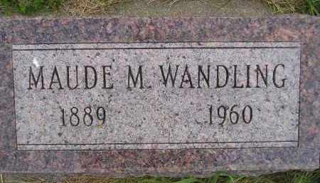 WANDLING, MAUDE M. - Miner County, South Dakota | MAUDE M. WANDLING - South Dakota Gravestone Photos