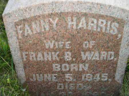 WARD, FANNY - Miner County, South Dakota | FANNY WARD - South Dakota Gravestone Photos