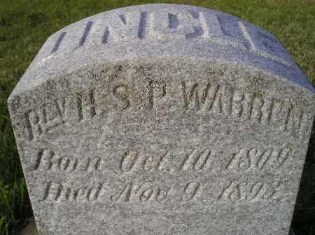 WARREN, H.S.P. (REV.) - Miner County, South Dakota   H.S.P. (REV.) WARREN - South Dakota Gravestone Photos