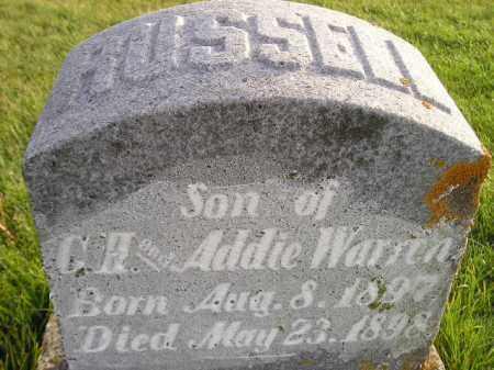 WARREN, RUSSELL - Miner County, South Dakota | RUSSELL WARREN - South Dakota Gravestone Photos