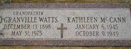 WATTS, O. GRANVILLE - Miner County, South Dakota | O. GRANVILLE WATTS - South Dakota Gravestone Photos