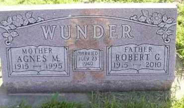 WUNDER, ROBERT G - Miner County, South Dakota   ROBERT G WUNDER - South Dakota Gravestone Photos