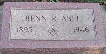 ABEL, BENN R, - Minnehaha County, South Dakota   BENN R, ABEL - South Dakota Gravestone Photos