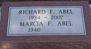 ABEL, RICHARD FREDERICK - Minnehaha County, South Dakota | RICHARD FREDERICK ABEL - South Dakota Gravestone Photos