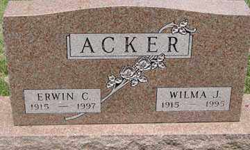 ACKER, ERWIN C. - Minnehaha County, South Dakota | ERWIN C. ACKER - South Dakota Gravestone Photos
