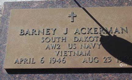 ACKERMAN, BARNEY J. - Minnehaha County, South Dakota | BARNEY J. ACKERMAN - South Dakota Gravestone Photos