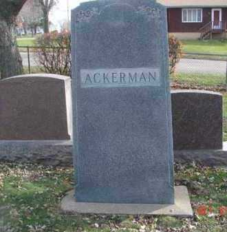 ACKERMAN, FAMILY MARKER - Minnehaha County, South Dakota | FAMILY MARKER ACKERMAN - South Dakota Gravestone Photos