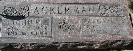 ACKERMAN, JOHN M. - Minnehaha County, South Dakota   JOHN M. ACKERMAN - South Dakota Gravestone Photos