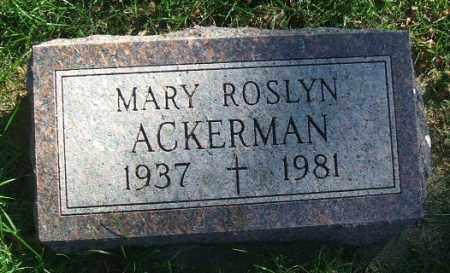 ACKERMAN, MARY ROSLYN - Minnehaha County, South Dakota | MARY ROSLYN ACKERMAN - South Dakota Gravestone Photos