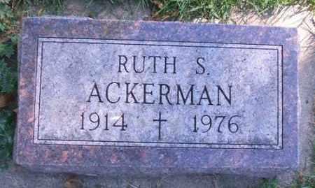 ACKERMAN, RUTH S. - Minnehaha County, South Dakota | RUTH S. ACKERMAN - South Dakota Gravestone Photos