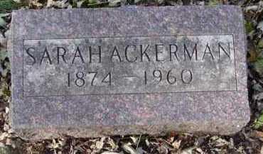 ACKERMAN, SARAH - Minnehaha County, South Dakota | SARAH ACKERMAN - South Dakota Gravestone Photos