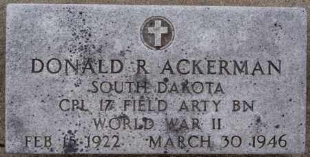 ACKERMAN, DONALD R (WWII) - Minnehaha County, South Dakota | DONALD R (WWII) ACKERMAN - South Dakota Gravestone Photos