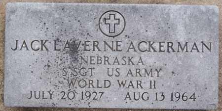 ACKERMAN, JACK LAVERNE (WWII) - Minnehaha County, South Dakota   JACK LAVERNE (WWII) ACKERMAN - South Dakota Gravestone Photos