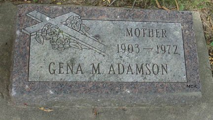 ADAMSON, GENA M. - Minnehaha County, South Dakota | GENA M. ADAMSON - South Dakota Gravestone Photos