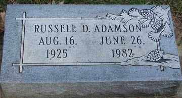 ADAMSON, RUSSELL D. - Minnehaha County, South Dakota | RUSSELL D. ADAMSON - South Dakota Gravestone Photos