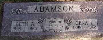 ADAMSON, SETH A. - Minnehaha County, South Dakota | SETH A. ADAMSON - South Dakota Gravestone Photos