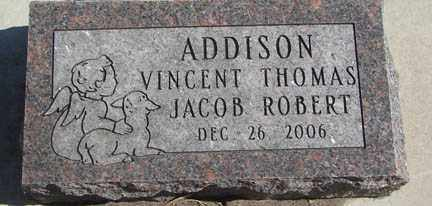 ADDISON, VINCENT THOMAS - Minnehaha County, South Dakota | VINCENT THOMAS ADDISON - South Dakota Gravestone Photos