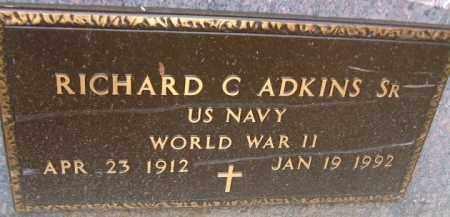 ADKINS, RICHARD C. SR. - Minnehaha County, South Dakota | RICHARD C. SR. ADKINS - South Dakota Gravestone Photos
