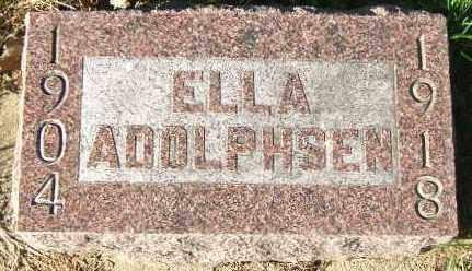 ADOLPHSEN, ELLA - Minnehaha County, South Dakota | ELLA ADOLPHSEN - South Dakota Gravestone Photos