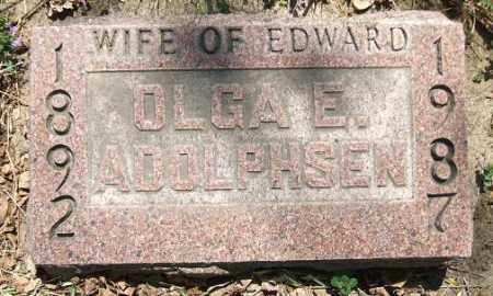 ADOLPHSEN, OLGA E. - Minnehaha County, South Dakota | OLGA E. ADOLPHSEN - South Dakota Gravestone Photos