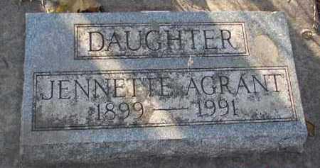 AGRANT, JENNETTE - Minnehaha County, South Dakota | JENNETTE AGRANT - South Dakota Gravestone Photos
