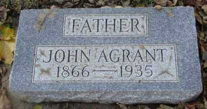 AGRANT, JOHN - Minnehaha County, South Dakota | JOHN AGRANT - South Dakota Gravestone Photos