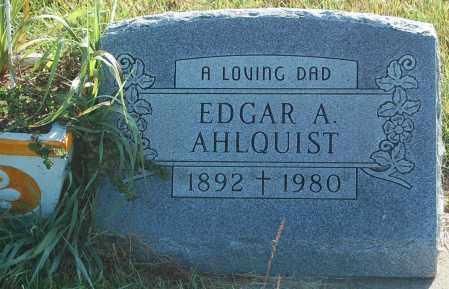 AHLQUIST, EDGAR A. - Minnehaha County, South Dakota | EDGAR A. AHLQUIST - South Dakota Gravestone Photos
