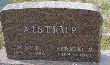 AISTRUP, HERBERT  M. - Minnehaha County, South Dakota | HERBERT  M. AISTRUP - South Dakota Gravestone Photos