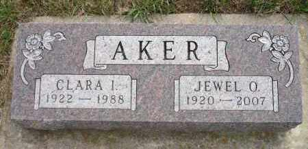 AKER, CLARA I. - Minnehaha County, South Dakota | CLARA I. AKER - South Dakota Gravestone Photos