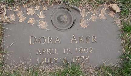 AKER, DORA - Minnehaha County, South Dakota | DORA AKER - South Dakota Gravestone Photos
