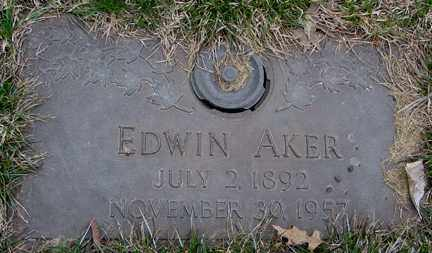 AKER, EDWIN - Minnehaha County, South Dakota | EDWIN AKER - South Dakota Gravestone Photos