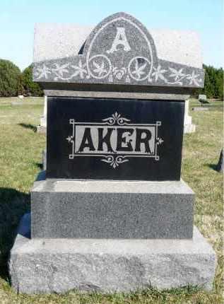 AKER, FAMILY MARKER - Minnehaha County, South Dakota   FAMILY MARKER AKER - South Dakota Gravestone Photos
