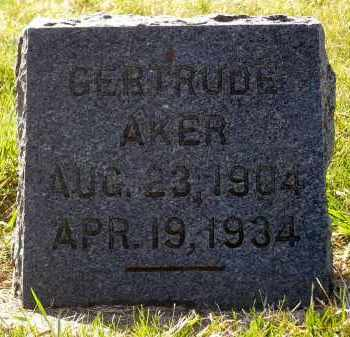 AKER, GERTRUDE - Minnehaha County, South Dakota | GERTRUDE AKER - South Dakota Gravestone Photos