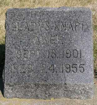 AKER, GLADYS - Minnehaha County, South Dakota   GLADYS AKER - South Dakota Gravestone Photos