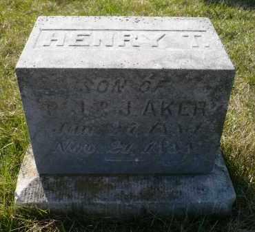 AKER, HENRY T. - Minnehaha County, South Dakota | HENRY T. AKER - South Dakota Gravestone Photos