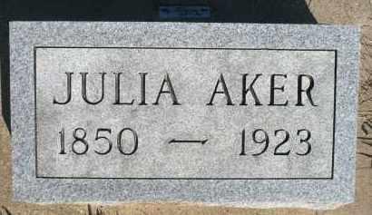 AKER, JULIA - Minnehaha County, South Dakota | JULIA AKER - South Dakota Gravestone Photos