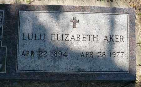 AKER, LULU ELIZABETH - Minnehaha County, South Dakota | LULU ELIZABETH AKER - South Dakota Gravestone Photos