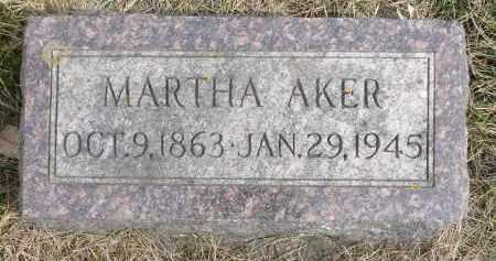 AKER, MARTHA - Minnehaha County, South Dakota   MARTHA AKER - South Dakota Gravestone Photos