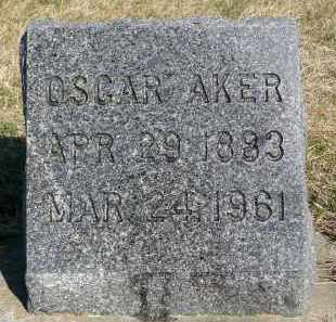 AKER, OSCAR - Minnehaha County, South Dakota | OSCAR AKER - South Dakota Gravestone Photos