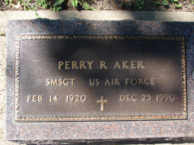 AKER, PERRY R. - Minnehaha County, South Dakota | PERRY R. AKER - South Dakota Gravestone Photos