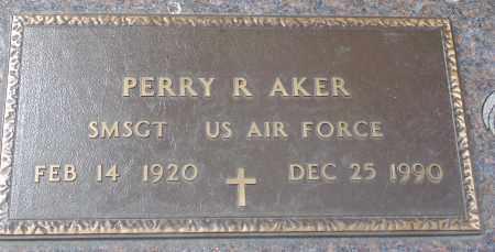 AKER, PERRY R. - Minnehaha County, South Dakota | PERRY R. AKER - South Dakota Gravestone Photos