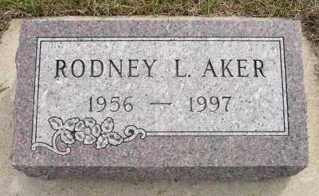 AKER, RODNEY L. - Minnehaha County, South Dakota | RODNEY L. AKER - South Dakota Gravestone Photos