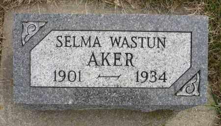 AKER, SELMA - Minnehaha County, South Dakota   SELMA AKER - South Dakota Gravestone Photos