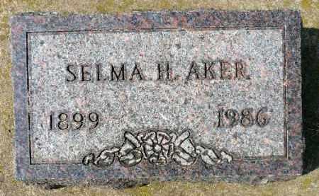 AKER, SELMA H. - Minnehaha County, South Dakota | SELMA H. AKER - South Dakota Gravestone Photos