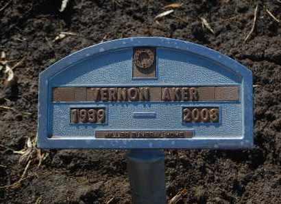 AKER, VERNON - Minnehaha County, South Dakota   VERNON AKER - South Dakota Gravestone Photos